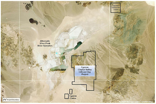 Cypress Clayton Valley Lithium Clay Project, Nevada Claims Map