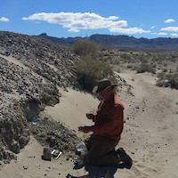 Bob Marvin, VP of Exploration, Sampling Lithium-Rich Claystone at Clayton Valley Project