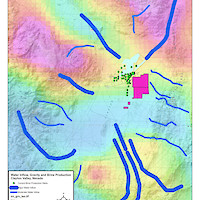 Clayton Valley, Nevada Water Sources & Gravity Map