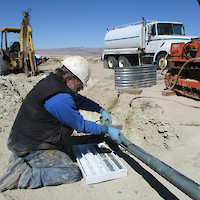 Dean Claims, Nevada Lithium Rich Drill Core Oct. 2017