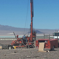 Dean Claims Drilling at Hole 9 in Clayton Valley, Nevada March 2017