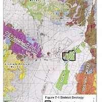 Clayton Valley, Nevada District Geology Map
