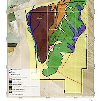 Clayton Valley Lithium Project, Nevada Geology Map