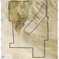 Clayton Valley Lithium Project, Nevada PFS Pit Outline Map
