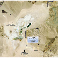 Cypress Clayton Valley Lithium Project, Nevada Claims Map
