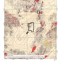 Regional Geology Map, Clayton Valley, Nevada, USA